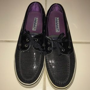 Sperry Shoes - Black Sparkle Sperry